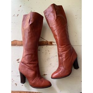 vintage Carlos Sanchez leather heeled boots